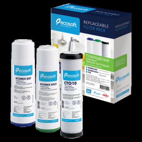 Улучшенный комплект картриджей Ecosoft для тройного фильтра